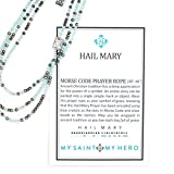Hail Mary Morse Code Prayer Rope Blue