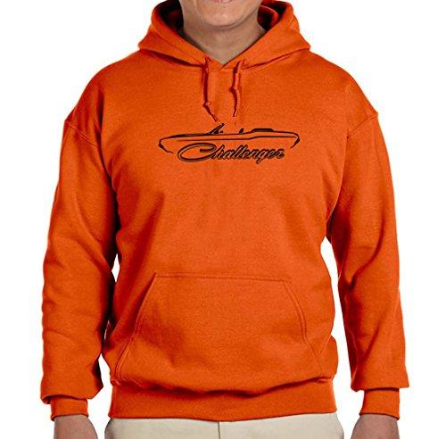 1970-74 Dodge Challenger Convertible Classic Outline Design Hoodie Sweatshirt XL orange ()