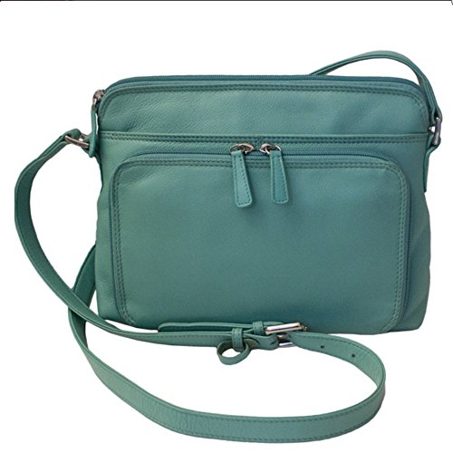Leather Organizer ili with Shoulder Side York Turquoise Handbag 6333 New 7wqtwPg