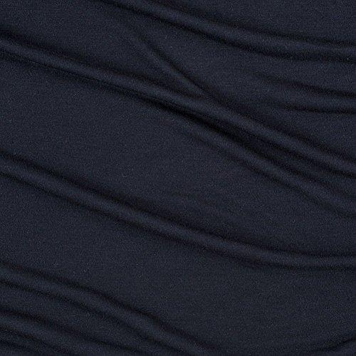 Navy Solid Tissue-Weight Silk-Blend - Fabric Knit Jersey Silk