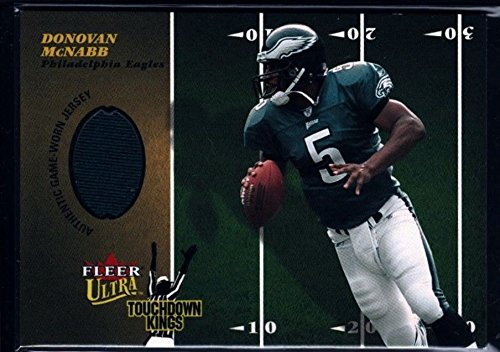 DONOVAN MCNABB $20+ EAGLES GAME USED JERSEY PATCH 2003 ULTRA TD KINGS SYRACUSE
