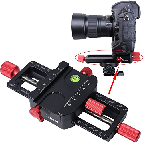iShoot Universal All Metal 150mm Macro Focusing Rail Slider Close-up Shooting Head Camera Support Bracket Holder With Arca-Swiss Fit Clamp and Quick Release Plate in Bottom for Tripod - Macro Stand Copy