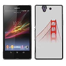 TaiTech / Hard Protective Case Cover - San Fransisco Bridge Red Usa Mist Fog Nature - Sony Xperia Z L36H C6602 C6603 C6606 C6616