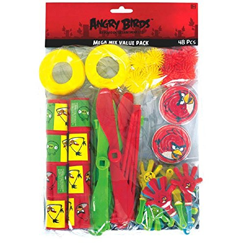 Angry Birds Mega Mix Value Pack - 48 Pieces (Party Favors Angry Birds)