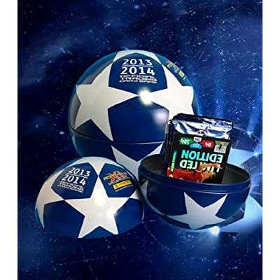 Tin Ball RARE Adrenalyn XL by PANINI UEFA Champions League 2013/2014 LE 10 packs: Sports & Outdoors