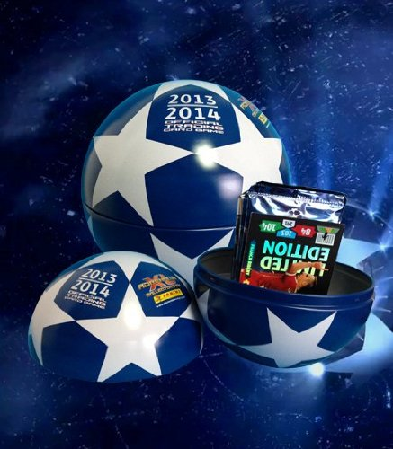 (Tin Ball RARE Adrenalyn XL by PANINI UEFA Champions League 2013 / 2014 LE 10 packs)