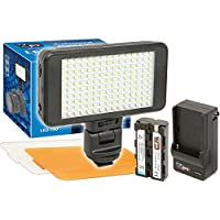 Vidpro LED-150 Ultra-Slim Video Light with 2 Diffusers, Battery & Charger