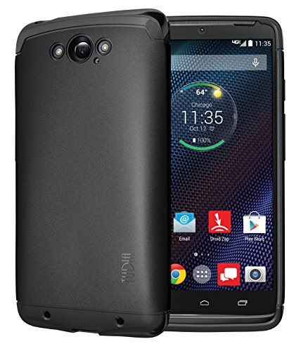 TUDIA Ultra Slim LITE TPU Bumper Protective Case for Motorola DROID Turbo Ballistic Nylon Version Only (NOT Compatible with Metalized Glass Fiber Version) (Black)