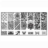 Doinshop 1PC Nail Art DIY Nail Stamp Stamping Image Plate Print Nail Art Template