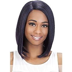 Vivica A Fox Hair Collection Shiny New Futura Hair in Color Pure Stretch Cap Wig, 1B, 4.52 Ounce