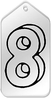 Azeeda 10 x Grand 'Numéro 8' etiquettes de Bagage / Cadeau (TG00067152)
