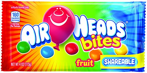 AirHeads Bites Candy Bag, Fruit, Non Melting, 4 Ounce (Bulk Pack of 18) -
