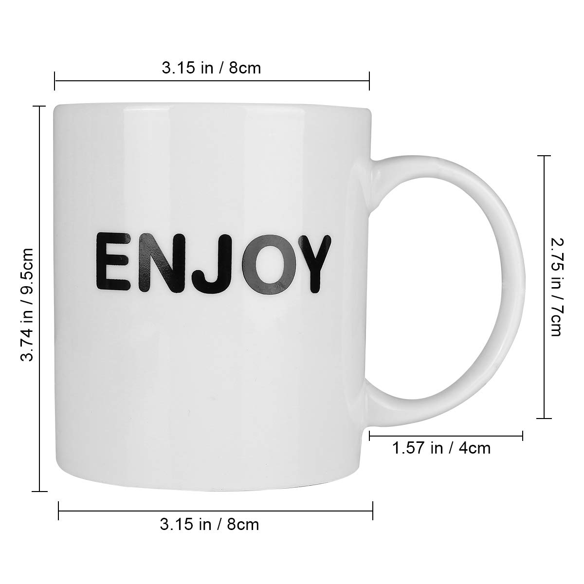 HANHAOPEAK Coffee Mug, 11oz Funny Coffee Mug: Enjoy, Unique Ceramic Novelty Holiday Christmas Hanukkah Gift for Men and Women Who Love Tea Mugs Coffee Cups, Suitable for Office and Home by HANHAOPEAK (Image #3)
