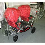 Sashas Rain and Wind Cover for Kolcraft Contours Options/Optima Tandem Stroller