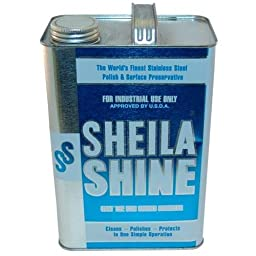 Sheila Shine 321702 Polish For Stainless Steel 1 Gallon Removes Greasy Films