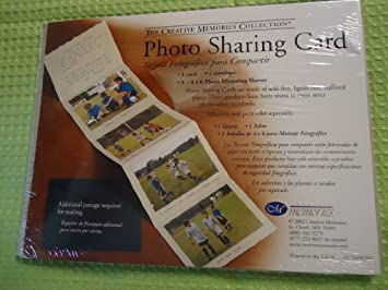 Amazon.com: Creative Memories 4 x 6 Photo Sharing Card - 1 ...