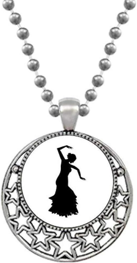 Beauty Gift Performance Dancer Folk Dance Necklaces Pendant Retro Moon Stars Jewelry