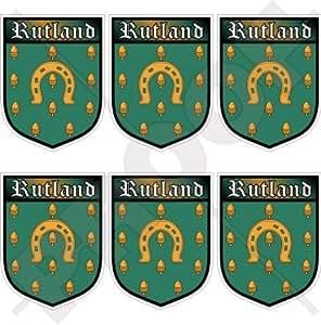 """Rutland County Britain England UK Shield 40mm (1,6"""") Funda para, teléfono celular Mini de vinilo pegatinas, calcomanías x6"""