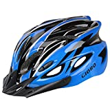 GIORO Ultralight Adult Cycling Bike Helmet for Men Women Specialized Road Urban Mountain Bicycle Safety Protection Certified with Removable Visor and Quick Release Adjustable Strap (Blue & Black)