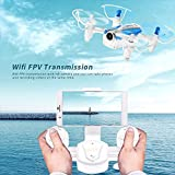 AICase Cheerson CX-17 Mini Drone with 0.3MP Camera Live Vedio Wifi FPV Quadcopter Helicopter RTF with 2.4G 4CH 6-Axis Gyro RC G-Sensor Selfie RC Quad Copter - Black/white