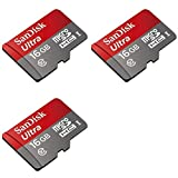 3 x Quantity of DJI Phantom 16GB Micro SD Memory Card SDHC Ultra Class 10 with Adapter up to 48MB/s - FAST FROM Orlando, Florida USA!