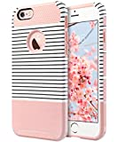 ULAK iPhone 6 Plus Case, iPhone 6S Plus Case, Slim Dual Layer Protection Scratch Resistant Hard Back Cover Shockproof TPU Bumper Case for Apple iPhone 6/6S Plus 5.5 inch-Minimal Rose Gold