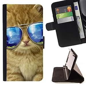 Momo Phone Case / Flip Funda de Cuero Case Cover - Gafas de sol del gato americano de pelo largo Maine; - Samsung Galaxy S6 Active G890A