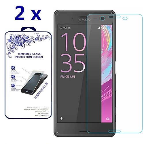 - [2-Pack] for Sony Xperia X Performance HD Tempered Glass Screen Protector Film by Nacodex 9H Glass (for Sony Xperia X Performance)