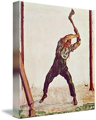 (Imagekind Wall Art Print Entitled The Woodman, 1910 by The Fine Art Masters   8 x 9)