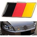 Alamor Aleación De Aluminio Alemania Bandera Insignia Rejilla Emblema Etiqueta Engomada Del Coche Calcomanía Decoración Universal