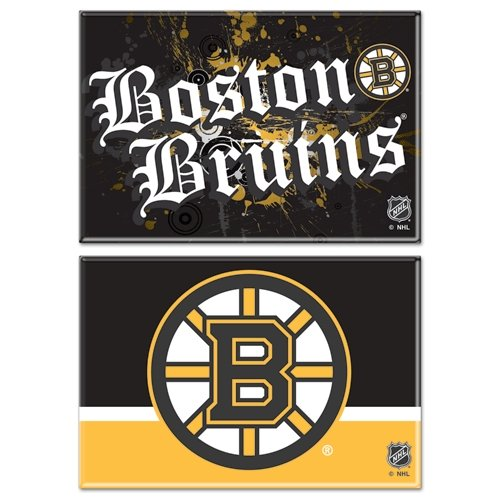 """WinCraft NHL Boston Bruins WCR06135010 Rectangle Magnet (2 Pack), 2"""" x 3"""""""