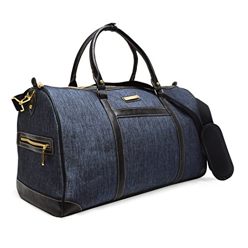 Adrienne Vittadini 22'' Duffel Great for Weekends, Travel, Vacations and Shopping (Nylon Dark Denim) by ADRIENNE VITTADINI
