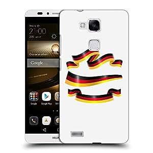 Super Galaxy Coque de Protection TPU Silicone Case pour // V00000619 Bandera de cinta de Alemania // Huawei Ascend Mate 7