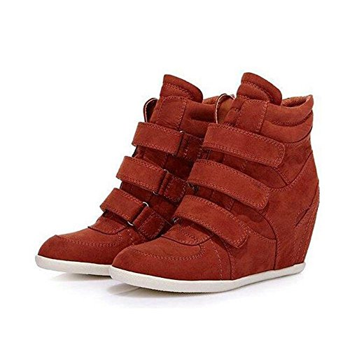 Increasing Boots Fashion Women's Short Height 36 NSXZ RED qCAWtW