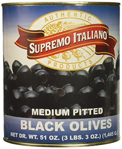 Supremo Italiano Medium Pitted Ripe Olives, 51 Ounce