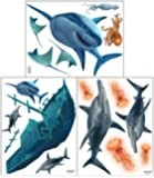 Create-A-Mural Shark Wall Decals for Boys Bedroom