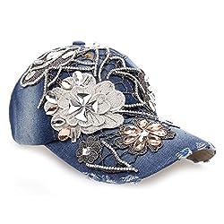 Rhinestones Crystals Studded Sequins Baseball Cap