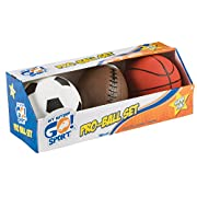 Toysmith Get Outside GO! Pro-Ball Set, Pack of 3