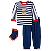 Little Me Baby Boys' Shirt and Jogger Set, Puppy, 9 Months