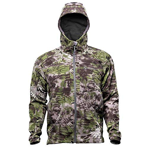 Kryptek Bora Jacket - Camo Softshell Hunting Jacket (Altitude Collection), Altitude, L (Soft Schoeller Shell)