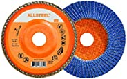 Walter 15W504 ALLSTEEL Flap Discs - [Pack of 10] 40 Grit, 5 in. Abrasive Disc for Metal Deburring, Finishing