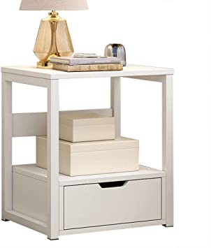 Retro Sofa Side End Drawer Bedside Table Cabinet Nighstand Storage Desk Bedroom