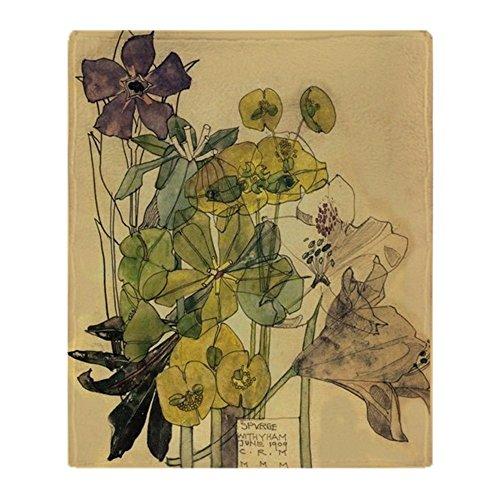 Mackintosh Throw - CafePress Charles Rennie Mackintosh Soft Fleece Throw Blanket, 50