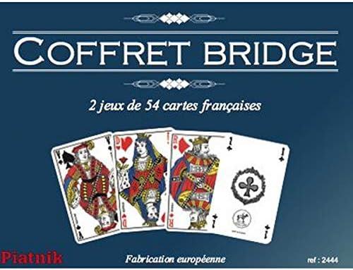 Piatnik-2444,0 De Bridge-Estuche con 2 Barajas De Cartas 54 Unidades: Amazon.es: Juguetes y juegos