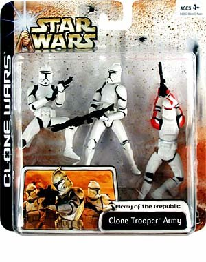 Star Wars: Clone Wars Deluxe > Clone Trooper Army (Red Highlights) Action Figure Multi-Pack