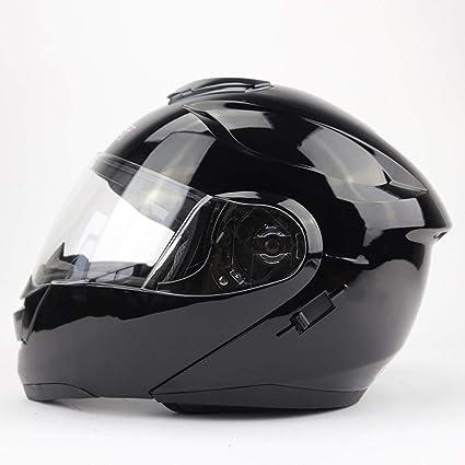 FTM® Casco, Motocicleta De Concha Doble Casco Con Visera, Casco Integral, ABS
