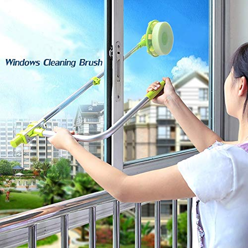 QJSDM Cleaning Tools Glass Window Cleaning Brus Retractable Pole Clean Window Device Dust Brush Washing Double Faced Glass Scraper Wipe Ceaner Tool