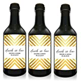 ''Drunk in Love'' Mini Small Wine Bottle Custom Label Sticker for Wedding Party Reception, Engagement, Bridal Shower, Bachelorette, Elopement Invitation - Specialized Personalized Bespoke Set of 10