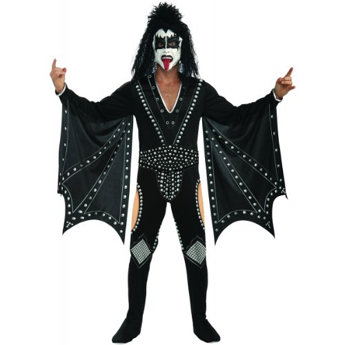 Rockstar Costumes For Adults (Kiss The Demon Costume, Black, Large)
