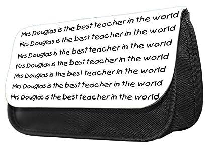 Estuche para lápices con diseño de Best Teacher in the World ...